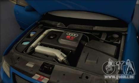 Audi A3 1999 pour GTA San Andreas vue de dessus
