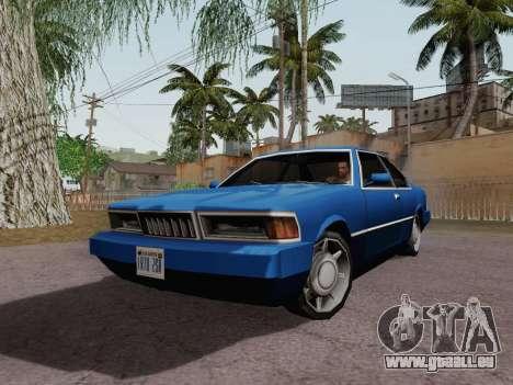 Sentinel Coupe für GTA San Andreas