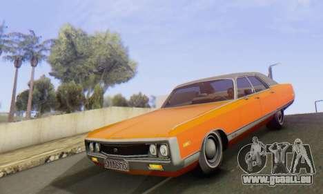 Chrysler New Yorker 1971 pour GTA San Andreas vue intérieure