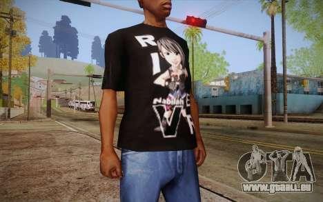 Anime Nabilah Shirt pour GTA San Andreas troisième écran