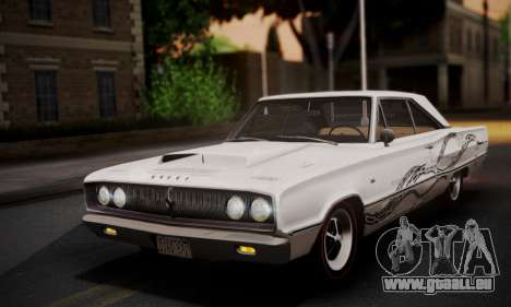 Dodge Coronet 440 Hardtop Coupe (WH23) 1967 für GTA San Andreas obere Ansicht