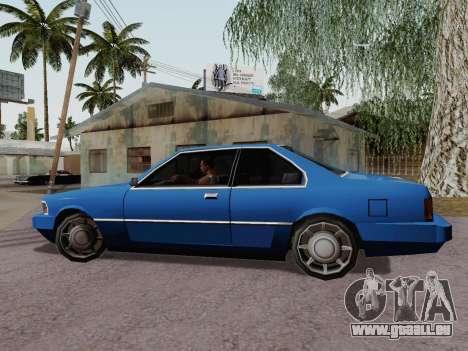 Sentinel Coupe für GTA San Andreas linke Ansicht