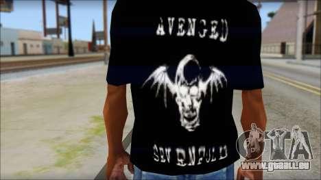 A7X Waking The Fallen Fan T-Shirt pour GTA San Andreas troisième écran