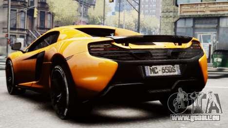 McLaren 650S Spider 2014 pour GTA 4 est une gauche