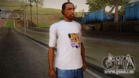 Leopard Shirt White pour GTA San Andreas
