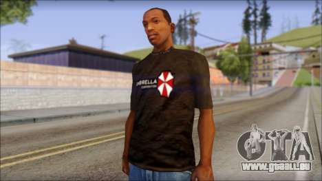 Umbrella Corporation Black T-Shirt für GTA San Andreas
