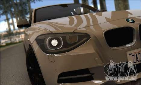BMW M135i pour GTA San Andreas vue arrière