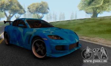 Mazda RX-8 VeilSide Blue Star pour GTA San Andreas vue de droite