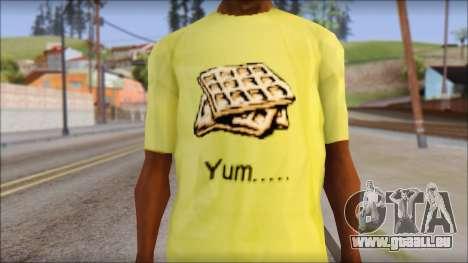 Waffle T-Shirt pour GTA San Andreas troisième écran