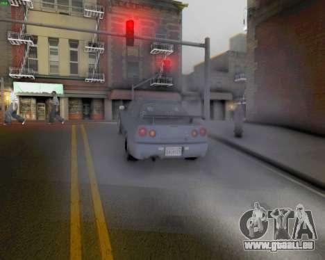 Nissan Skyline R34 Fast and Furious 4 pour GTA San Andreas vue arrière