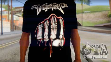 Dragonforce In Your Face Fan T-Shirt für GTA San Andreas dritten Screenshot
