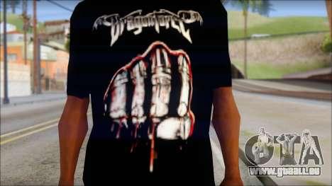 Dragonforce In Your Face Fan T-Shirt für GTA San Andreas dritten Screenshot