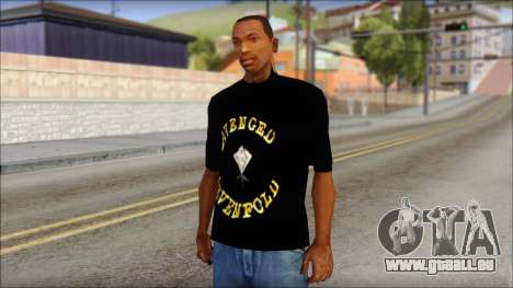 A7X Golden Deathbat Fan T-Shirt für GTA San Andreas