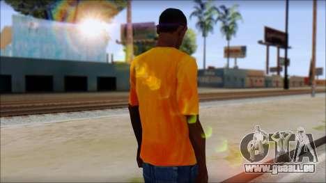 Cj Fox T-Shirt pour GTA San Andreas deuxième écran