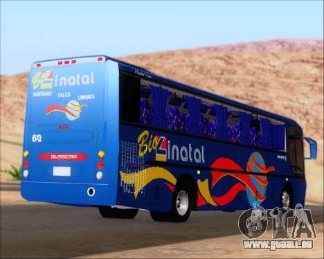 Busscar El Buss 340 Bio Linatal für GTA San Andreas zurück linke Ansicht