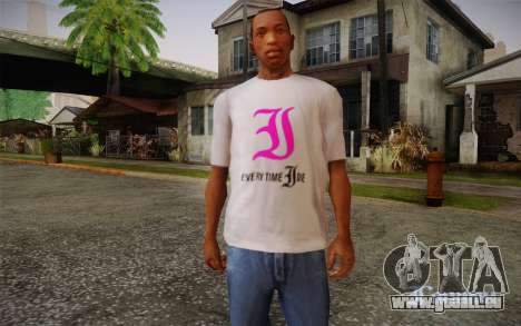 Everytime I Die T-Shirt pour GTA San Andreas