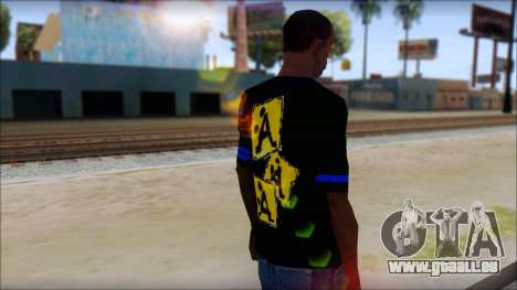 T-Shirt A-Style für GTA San Andreas zweiten Screenshot