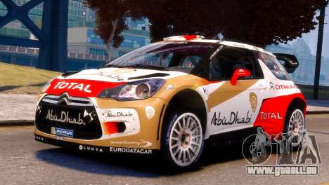 Citroen DS3 WRC pour GTA 4