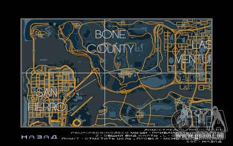 Carte de course style de Trace de la Carte pour GTA San Andreas troisième écran
