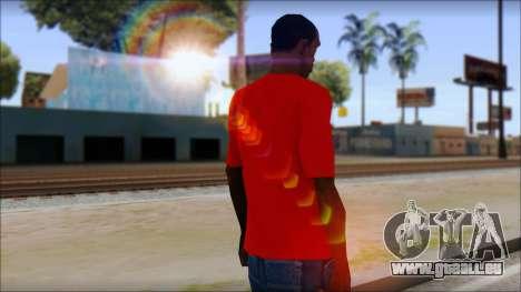Vidick from Infected Rain Red T-Shirt für GTA San Andreas zweiten Screenshot