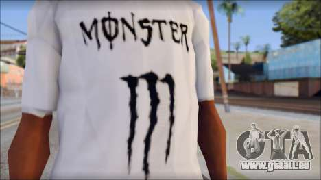 Monster Black And White T-Shirt für GTA San Andreas dritten Screenshot