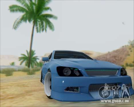 Toyota Allteza C-West pour GTA San Andreas sur la vue arrière gauche