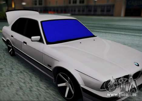 BMW 520i E34 für GTA San Andreas zurück linke Ansicht