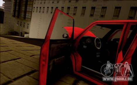 Moonbeam Stance für GTA San Andreas Rückansicht