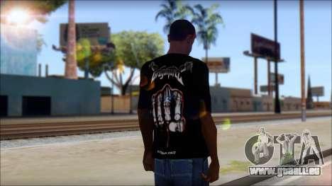 Dragonforce In Your Face Fan T-Shirt für GTA San Andreas zweiten Screenshot