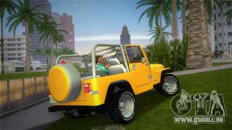 Jeep Wrangler 1986 v4.0 Fury für GTA Vice City linke Ansicht