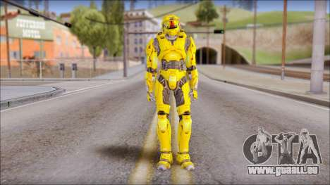 Masterchief Yellow from Halo für GTA San Andreas
