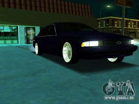 Chevrolet Impala SS 1995 pour GTA San Andreas vue de droite