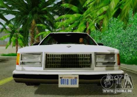 Washington Limousine für GTA San Andreas rechten Ansicht
