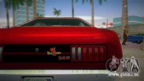Dodge Dart Demon 340 1971 für GTA Vice City zurück linke Ansicht