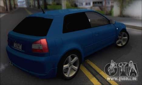 Audi A3 1999 pour GTA San Andreas vue de droite