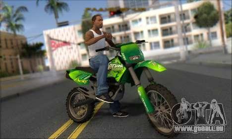 Sanchez From GTA V pour GTA San Andreas vue arrière