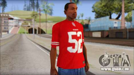 San Francisco 69ers 52 Willis Red T-Shirt pour GTA San Andreas