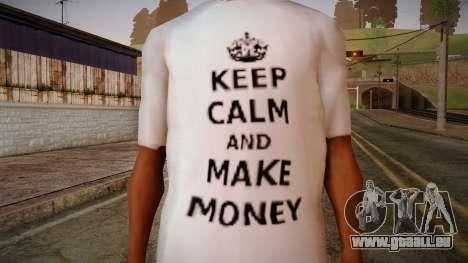 Fler Keep Calm And Make Money Shirt für GTA San Andreas dritten Screenshot