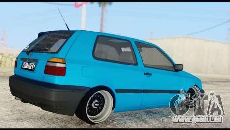 Volkswagen MK3 deLidoLu Edit pour GTA San Andreas laissé vue