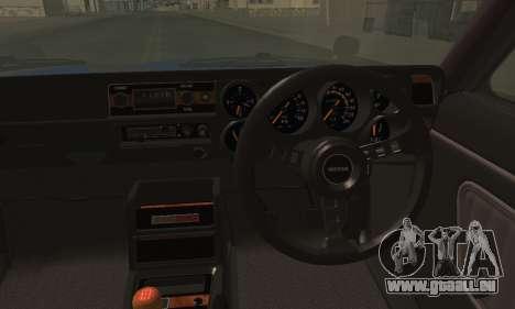 Nissan Skyline GC10 2000GT für GTA San Andreas zurück linke Ansicht