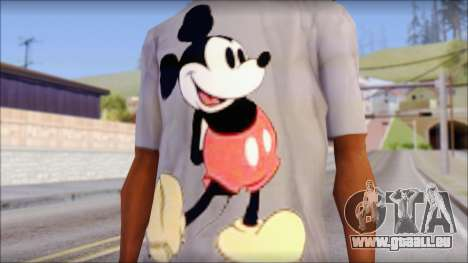 Mickey Mouse T-Shirt für GTA San Andreas dritten Screenshot