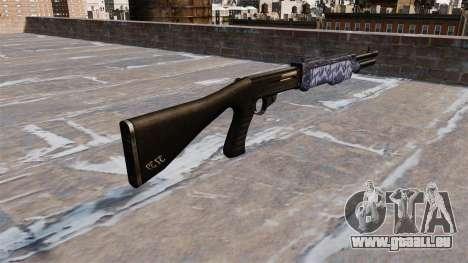 Ружье Franchi SPAS-12 Blue tiger für GTA 4 Sekunden Bildschirm