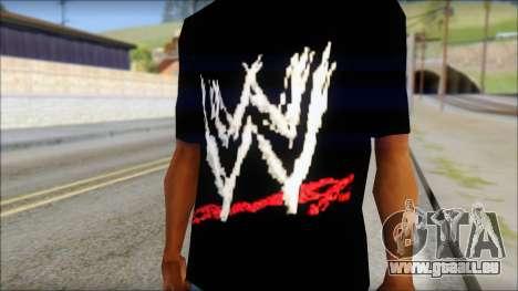WWE Logo T-Shirt mod v2 pour GTA San Andreas troisième écran