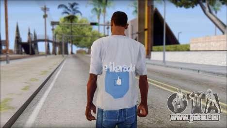 The Likersable T-Shirt pour GTA San Andreas deuxième écran