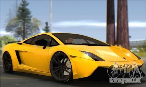 Lamborghini Gallardo LP570 Superleggera für GTA San Andreas rechten Ansicht