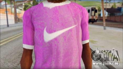 NIKE Pink T-Shirt pour GTA San Andreas troisième écran