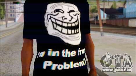 Trollface and Forever Alone T-Shirt pour GTA San Andreas troisième écran