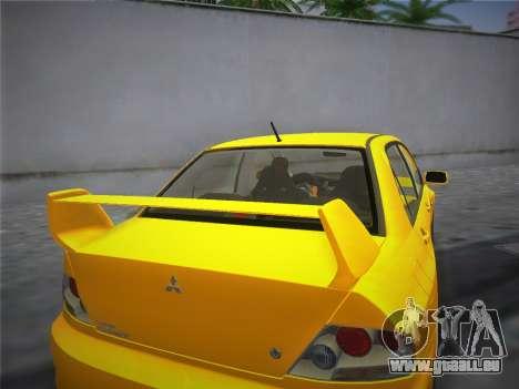 Mitsubishi Lancer Evolution 8 2004 für GTA Vice City zurück linke Ansicht
