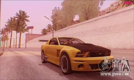 Ford Mustang GTR pour GTA San Andreas sur la vue arrière gauche