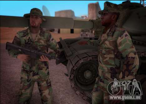 90s California National Guard für GTA San Andreas dritten Screenshot